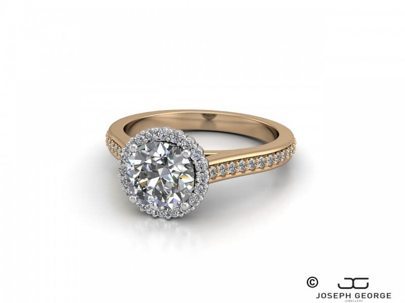 A diamond ring is a classic symbol of love and commitment.