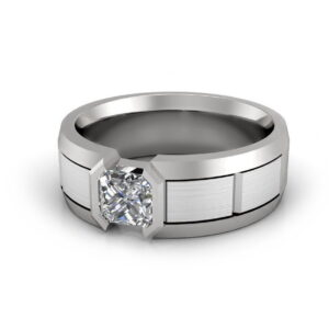Platinum mens diamond engagement ring Zinon view 5
